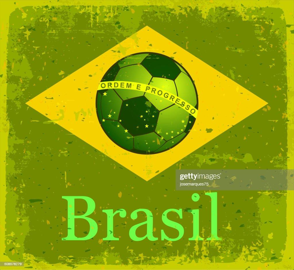 Flag of Brazil. : Vector Art