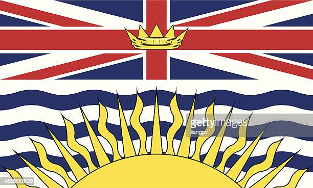 flag of british columbia - flag stock illustrations