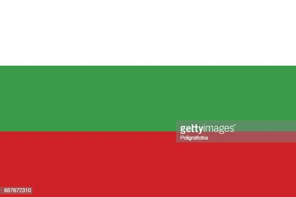illustrazioni stock, clip art, cartoni animati e icone di tendenza di flag of bulgaria - bulgaria
