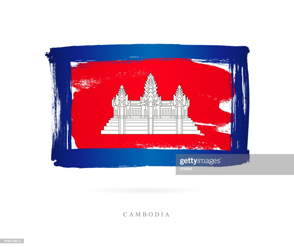 Flag of Cambodia. Vector illustration