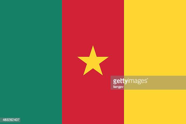 flag of cameroon - cameroon stock illustrations, clip art, cartoons, & icons