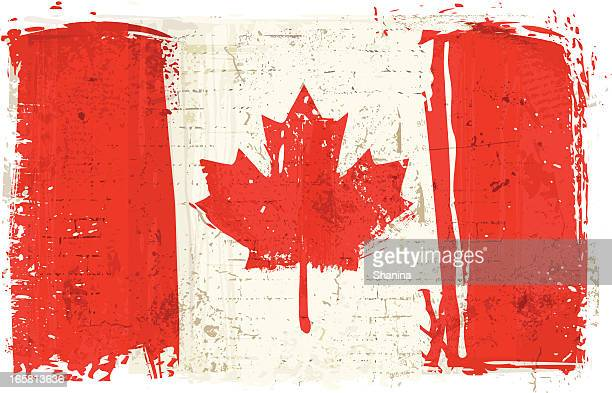 flag of canada on wall - canadian flag stock illustrations, clip art, cartoons, & icons