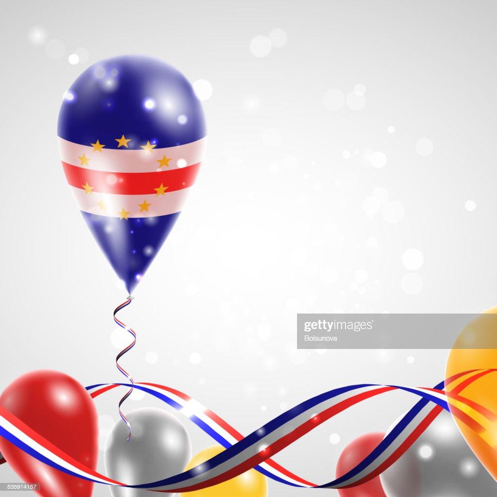Bandeira de Cabo Verde em balão : Arte vetorial
