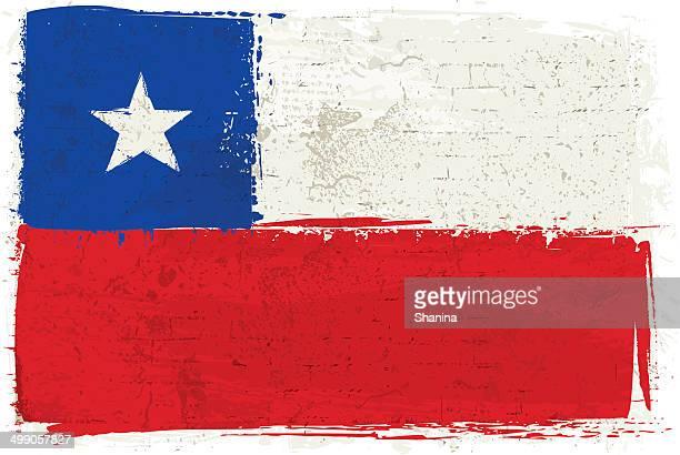 illustrazioni stock, clip art, cartoni animati e icone di tendenza di bandiera del cile sulla parete - bandiera del cile