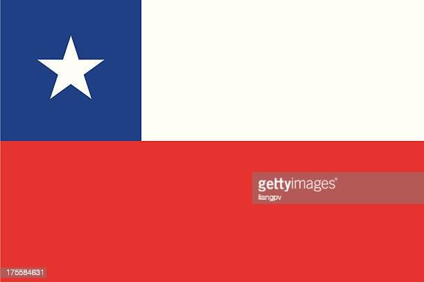 チリ国旗 - チリ共和国点のイラスト素材/クリップアート素材/マンガ素材/アイコン素材