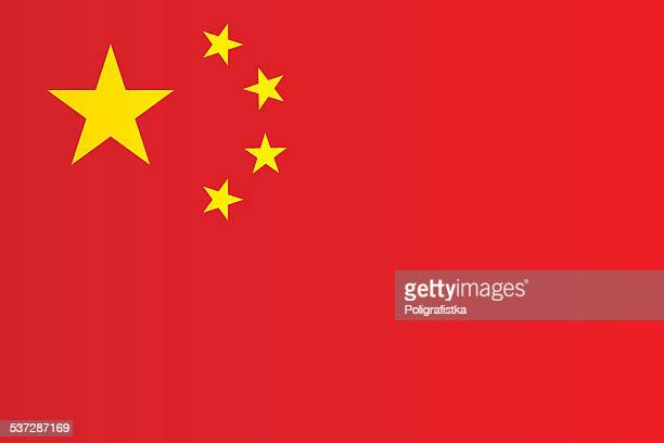 stockillustraties, clipart, cartoons en iconen met flag of china - china oost azië
