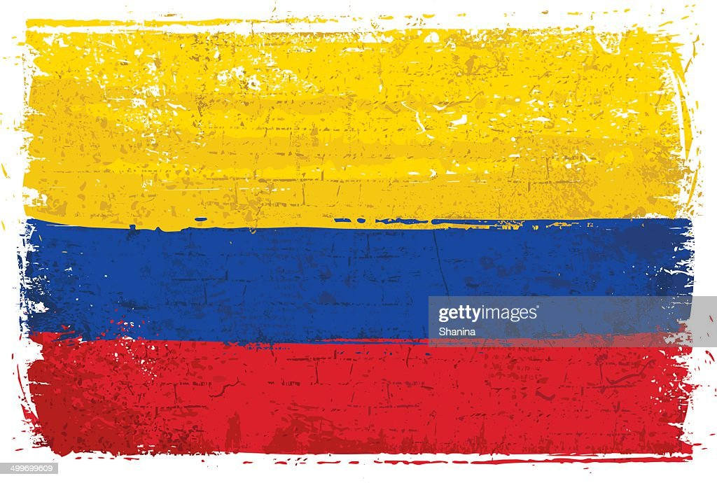 Flag of Colombia on Wall