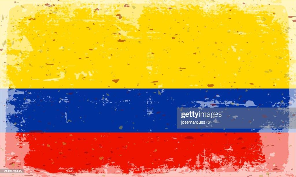 Flagge von Kolumbien : Vektorgrafik