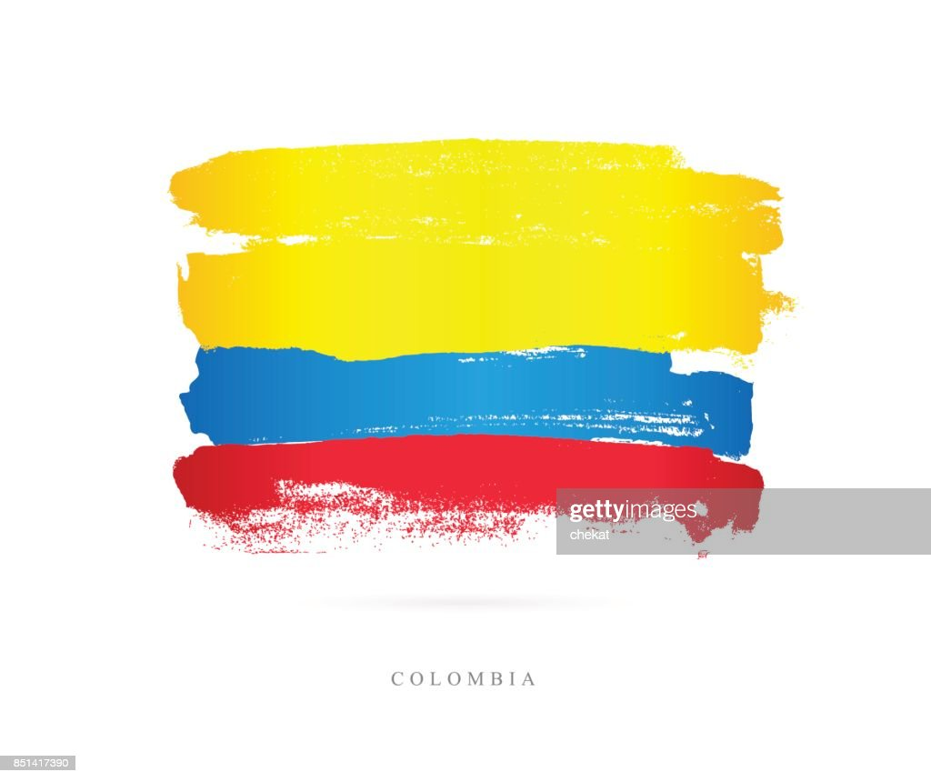 Flag of Colombia. Vector illustration