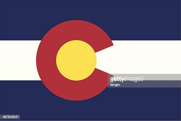 flag of colorado - colorado stock illustrations