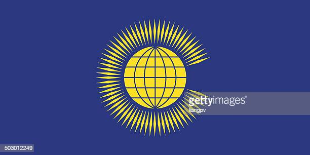 flag of commonwealth - british empire stock illustrations
