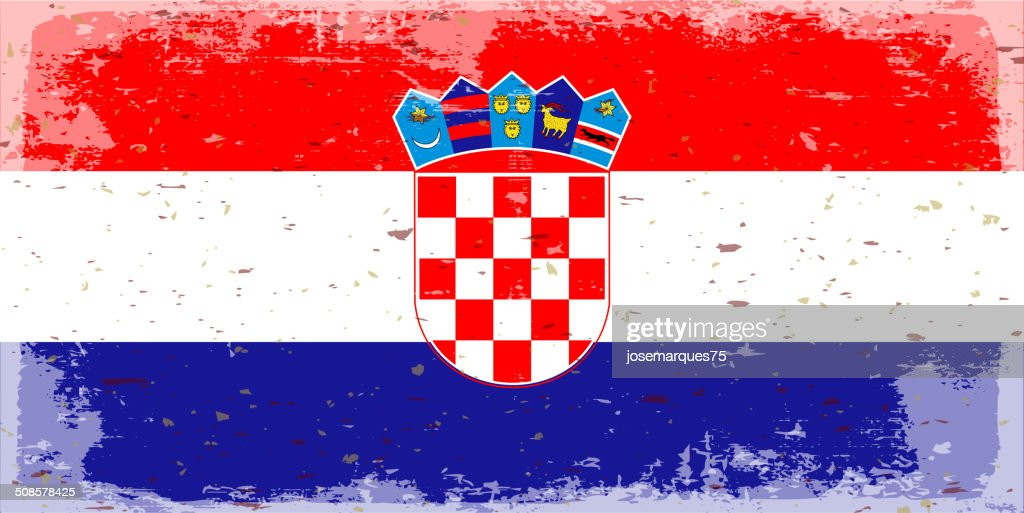 Flag of Croatia : Vector Art