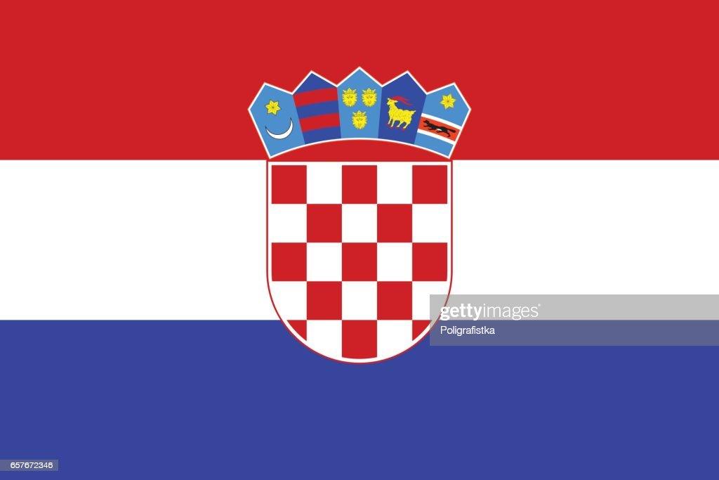 Flag of Croatia : stock illustration