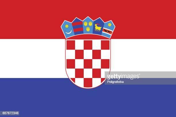 flag of croatia - croatian flag stock illustrations, clip art, cartoons, & icons