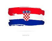 Flag of Croatia. Vector illustration