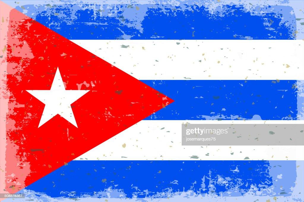 Flag of cuba : Vektorgrafik