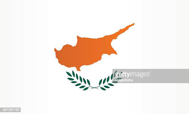 stockillustraties, clipart, cartoons en iconen met flag of cyprus - cyprus