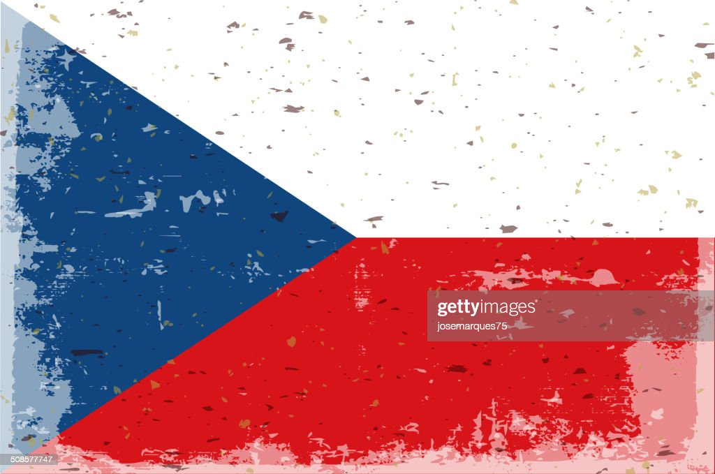 Flagge der Tschechischen Republik : Vektorgrafik