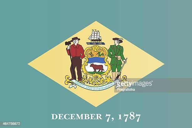 flag of delaware - delaware us state stock illustrations, clip art, cartoons, & icons
