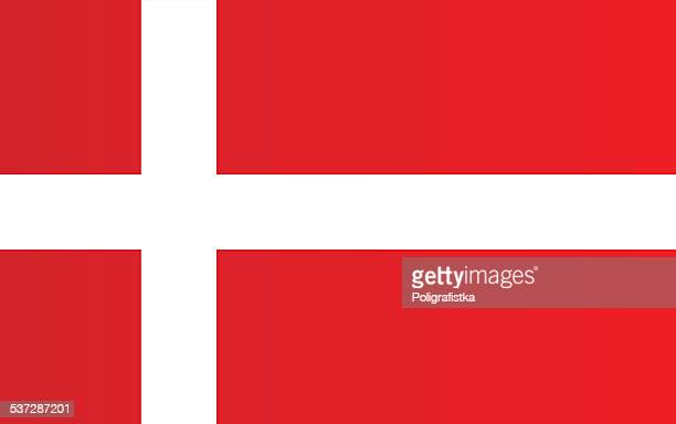 flag of denmark - all european flags stock illustrations