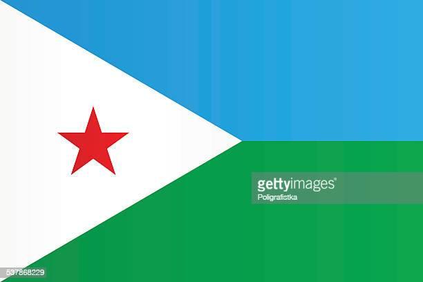 stockillustraties, clipart, cartoons en iconen met flag of djibouti - djibouti