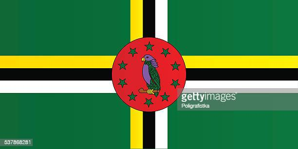 flag of dominica - dominica stock illustrations