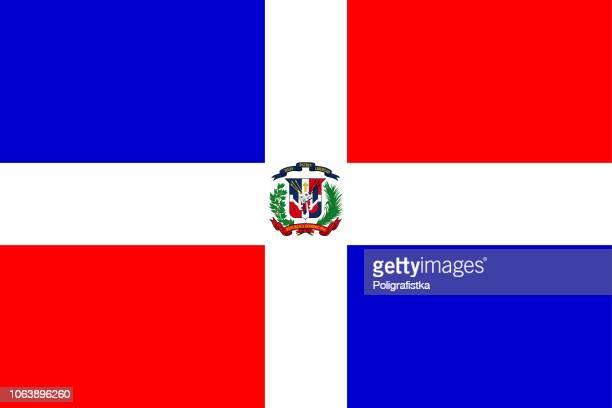 flag of dominican republic - dominican republic flag stock illustrations