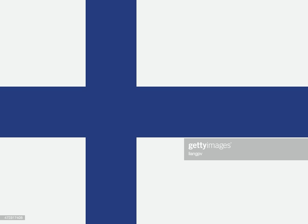 A flag of Finland with a blue cross