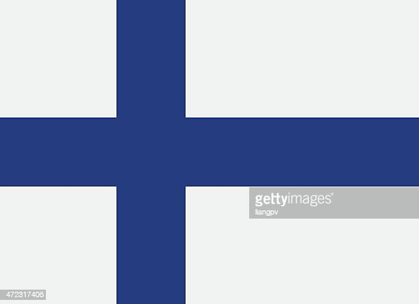 a flag of finland with a blue cross - finland stock illustrations