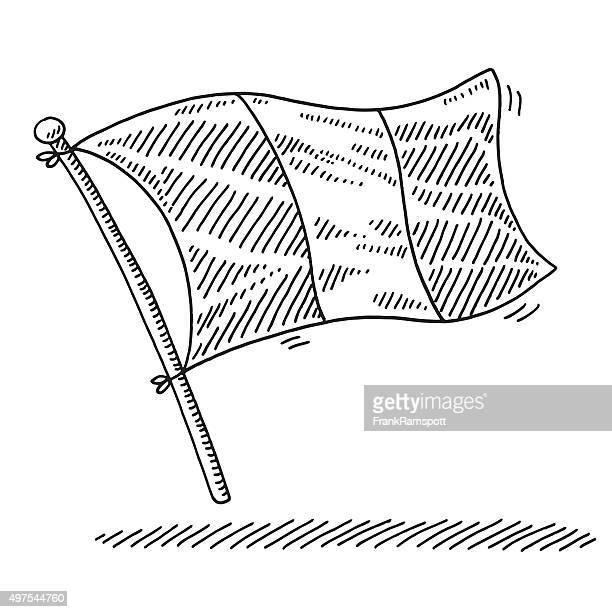 illustrations, cliparts, dessins animés et icônes de dessin drapeau de la france - drapeau français