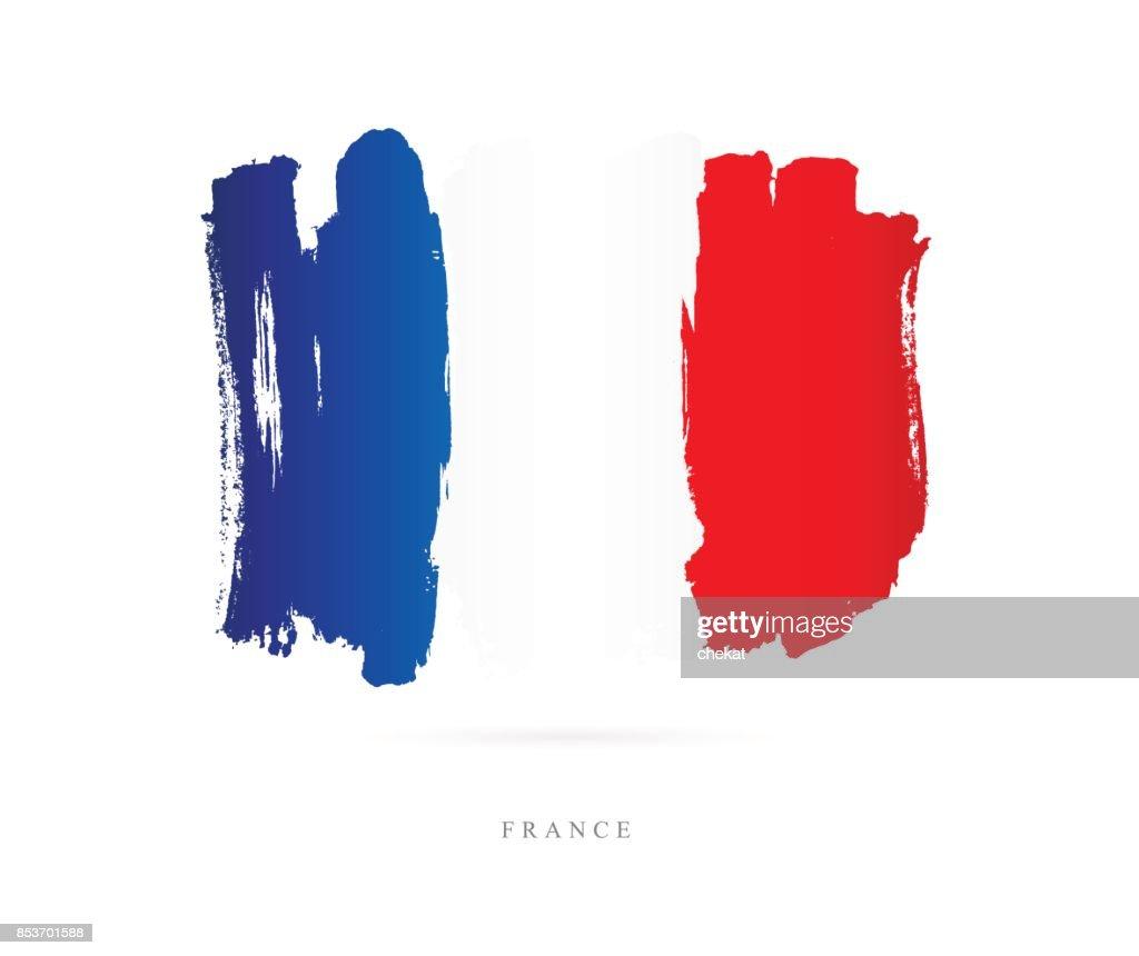 Flag of France. Vector illustration