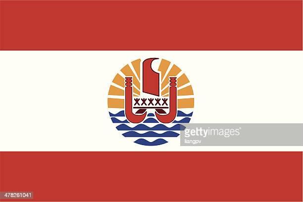 flag of french polynesia - french polynesia stock illustrations