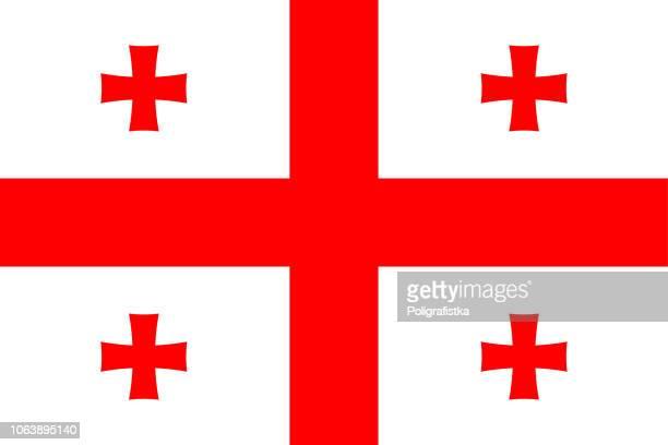 flagge von georgien - flagge von georgien stock-grafiken, -clipart, -cartoons und -symbole