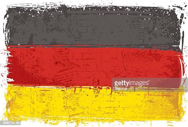 flagge von deutschland an der wand - deutsche flagge stock-grafiken, -clipart, -cartoons und -symbole