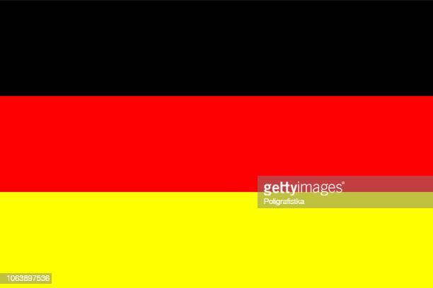 flagge von deutschland - deutsche flagge stock-grafiken, -clipart, -cartoons und -symbole