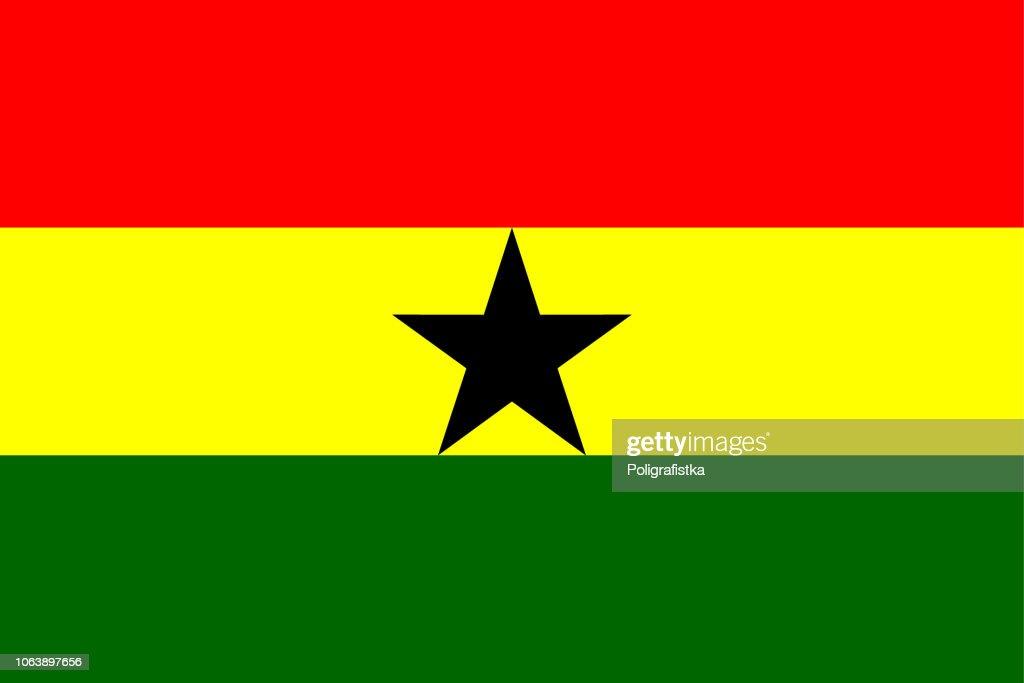 Flag of Ghana : stock illustration