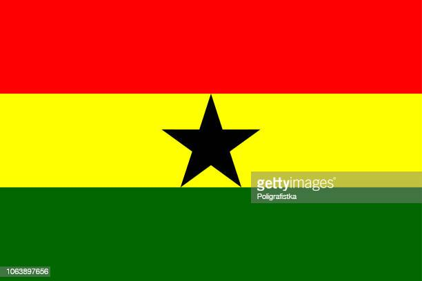 flag of ghana - ghana stock illustrations, clip art, cartoons, & icons