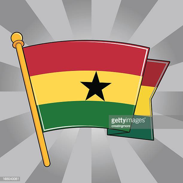 flag of ghana - accra stock illustrations, clip art, cartoons, & icons