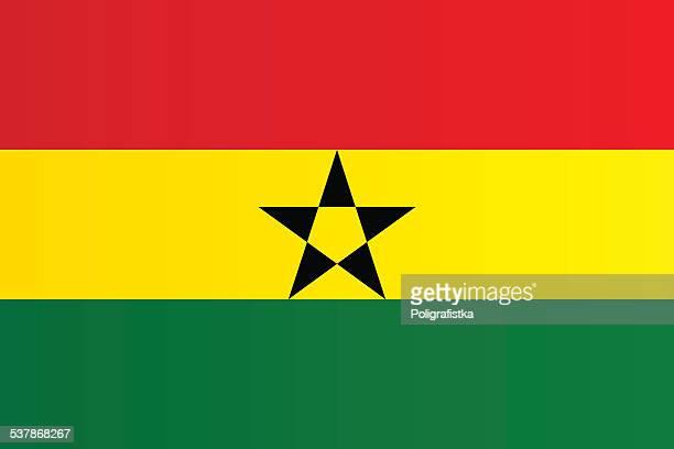 flag of ghana - ghana flag stock illustrations, clip art, cartoons, & icons