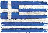 Flag of Greece on Wall