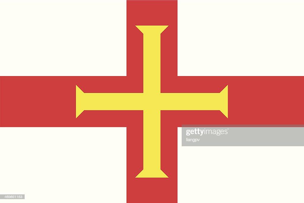 Flag of Guernsey : Vector Art