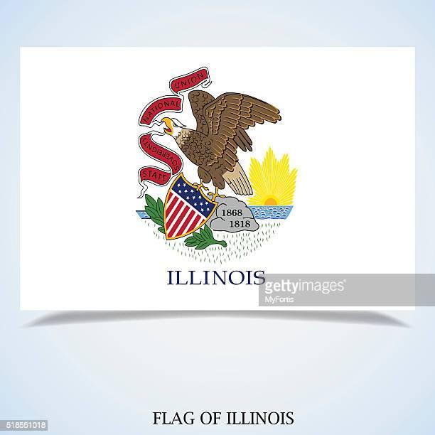 flag of illinois - illinois stock illustrations