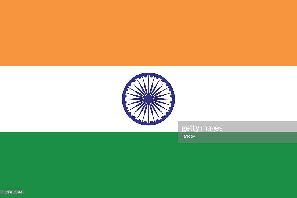 Flag of India : Stockillustraties