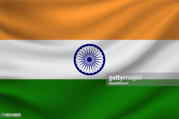 flag of india. vector illustration. - indian flag stock illustrations