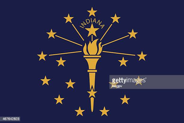 flag of indiana - indiana stock illustrations