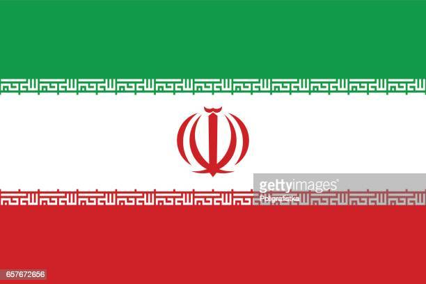 flag of iran - iran stock illustrations