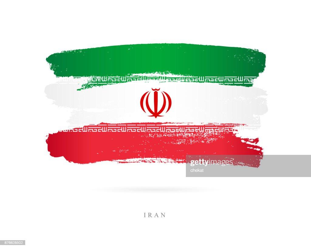Flag of Iran. Vector illustration