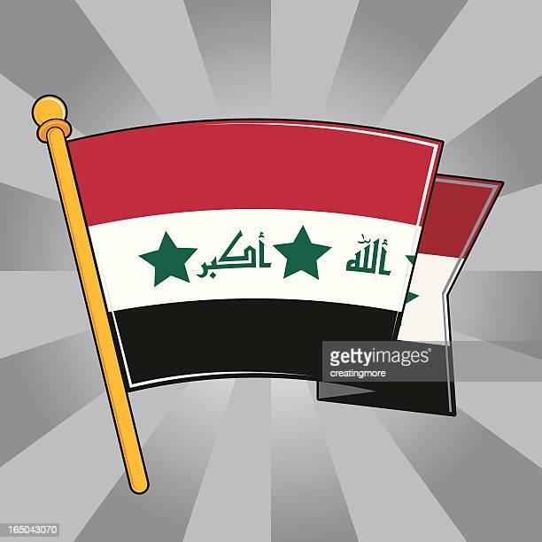 flag of iraq - arabic script stock illustrations, clip art, cartoons, & icons