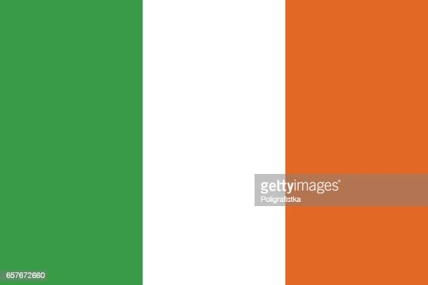 flag of ireland - all european flags stock illustrations