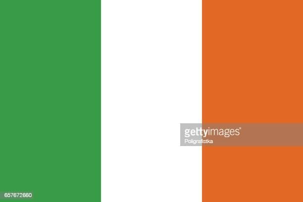 flagge von irland  - westeuropa stock-grafiken, -clipart, -cartoons und -symbole